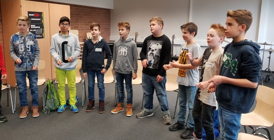 Impressionen vom Workshop 'Beatboxen'.